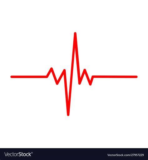 Solid heart rhythm ekg icon cardio heartbeat Vector Image