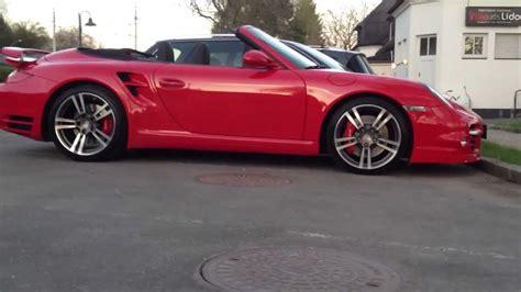 turbo porsche red porsche 911 turbo cabrio in red youtube