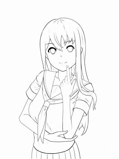 Anime Coloring Base Lineart Tutorial Drawing Sysen