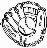 Baseball Glove Coloring Gloves Clipart Drawing Drawings Pages Clip Mitt Sheets Bat Printable Cliparts Sports Signs Template Mewarnai Boys Softball sketch template