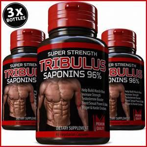 Tribulus Terrestris 7500mg 96  Saponins Bodybuilding Bigger Muscles Booster