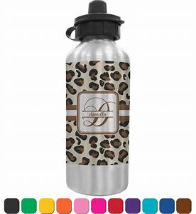 leopard print water bottle personalized youcustomizeit With how to print on water bottles