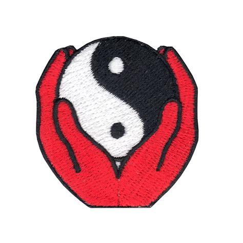 Fosil Motif Yin Yang ying yang iron on applique patch