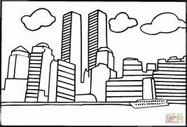 trade center before 9 11 coloring page free printable coloring pages