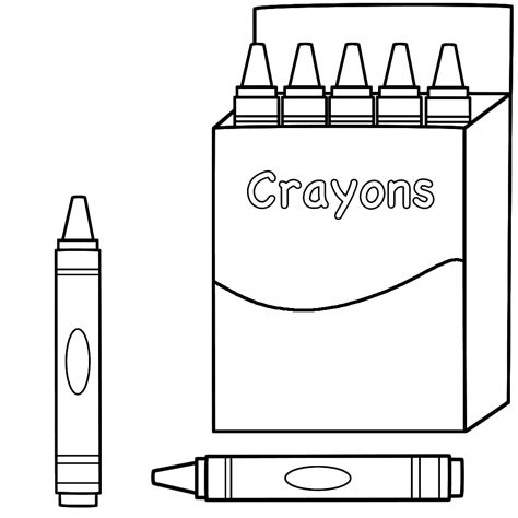 crayon coloring pages back to school coloring pages best coloring pages for