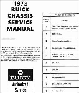 1973 Buick Original Shop Manual Riviera Lesabre Electra Regal Century Centurion