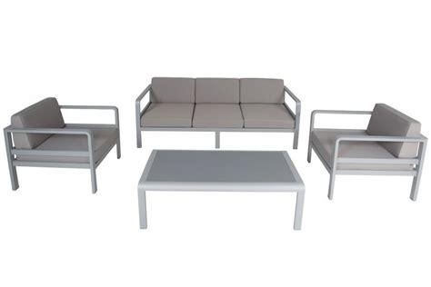 canapé de jardin aluminium salon de jardin alu canapé 3 p 2 fauteuils avec
