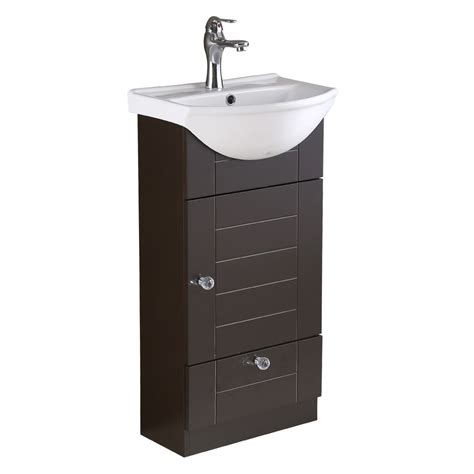 wall mounted bathroom vanity cabinet sink dark oak