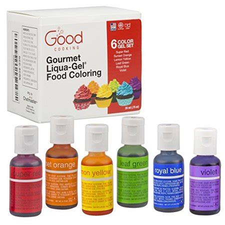 food coloring walmart food coloring liqua gel 6 color rainbow kit in 75 fl