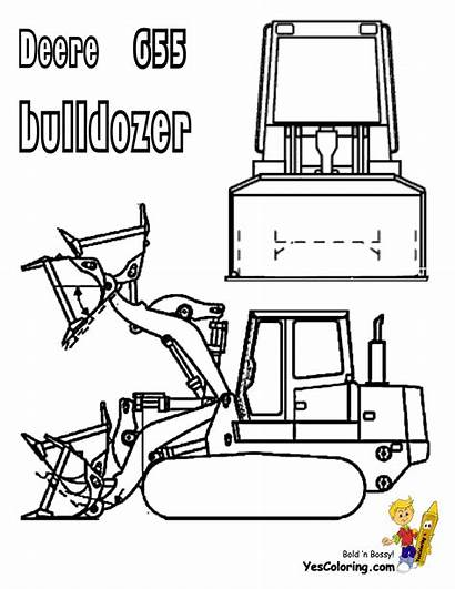 Coloring Bulldozer Pages Construction Equipment Heavy Deere