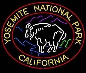 Yosemite National Park California Neon Sign neonandmore