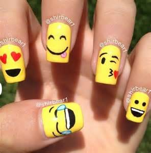 Cool nail designs : Cool emoji nail art nails and toes big