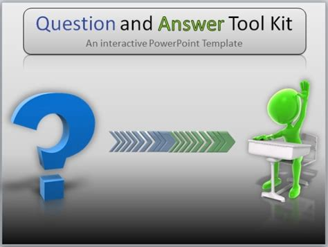 Powerpoint Questions And Answers Template by Question And Answer Toolkit Template For Powerpoint