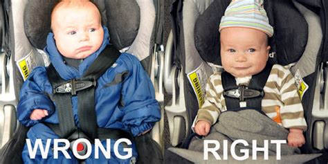 Car Seat And Puffy Winter Jacket Is A Dangerous