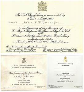 Prince William And Kate Middleton Wedding Invitation Card ...