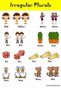 Chart Worksheet On Irregular Plurals Your Home Teacher