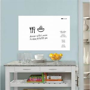 24 in x 175 in white dry erase board wpe93961 the With kitchen colors with white cabinets with dry erase board sticker