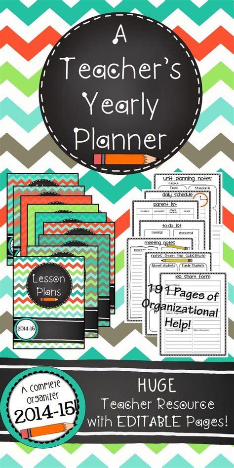 teacher planner   editable teacher binder