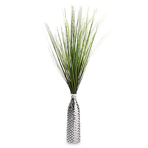grass vase grass in silver vase bed bath beyond