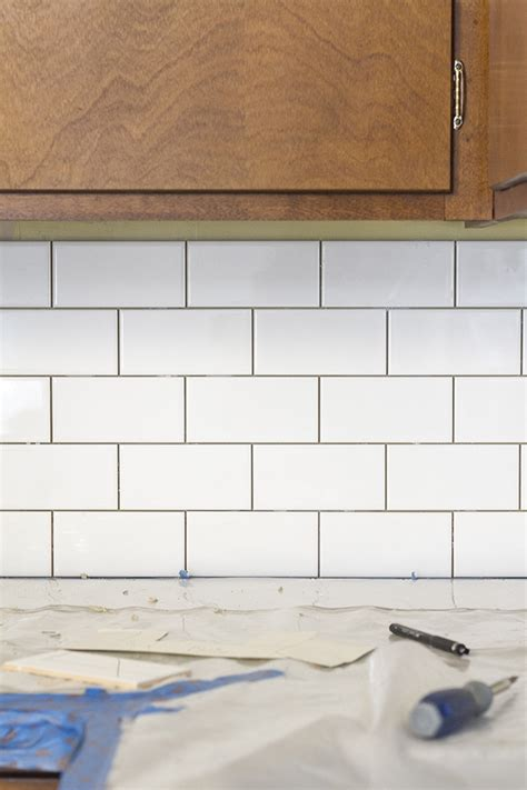 subway tile kitchen backsplash diy a white subway tile backsplash story green diy 8403