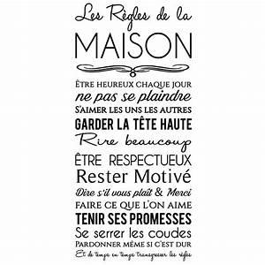 Regle De Vie A La Maison : sticker les r gles de la maison design stickers ~ Dailycaller-alerts.com Idées de Décoration