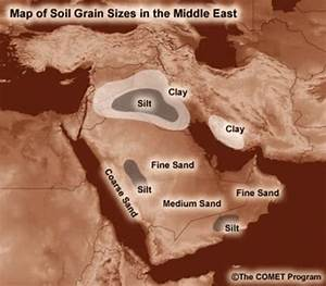 Soil Grain Types In The Middle East  Note That The