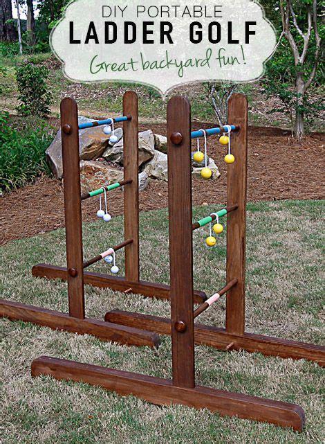 portable diy wooden ladder golf diy yard games ladder