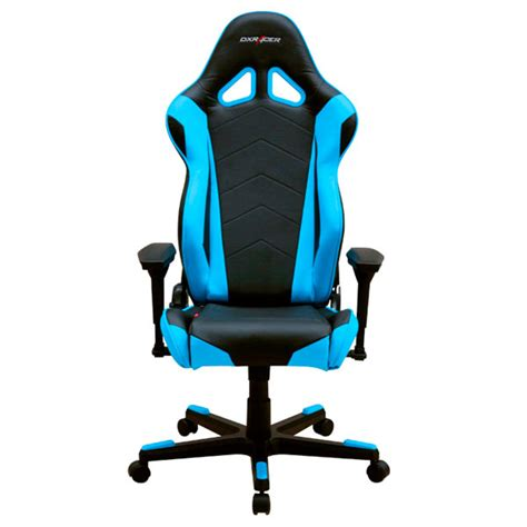 dxracer r series pc office gaming chair black blue oh