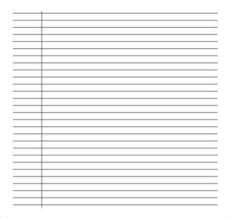 sample college ruled paper templates   ms word