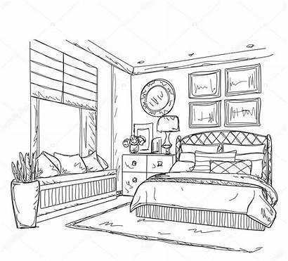Disegno Camera Letto Bedroom Drawing Moderne Slaapkamer