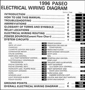 1996 Toyota Paseo Wiring Diagram Manual Original