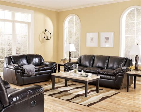 Living Room Design With Black Leather Sofa : Prepossessing 40+ Living Room Design Ideas Brown Leather