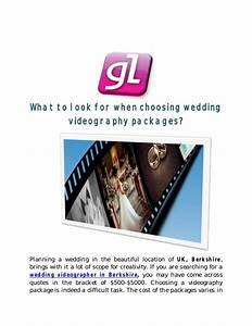 What to look for when choosing wedding videography packages for Wedding videography packages