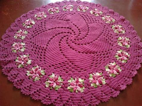 lindo tapete redondo em croche 8 fios 1 70m r 199 00 em mercado livre