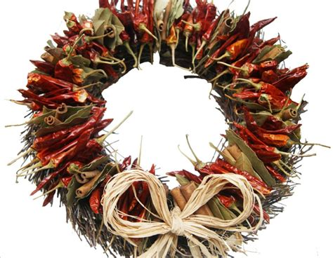 chilli twig circle christmas wreath bush twig circle