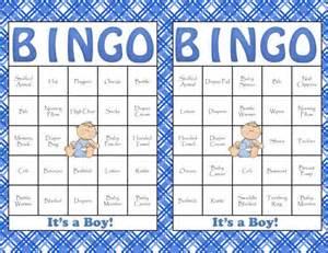 Boy Baby Shower Bingo Cards