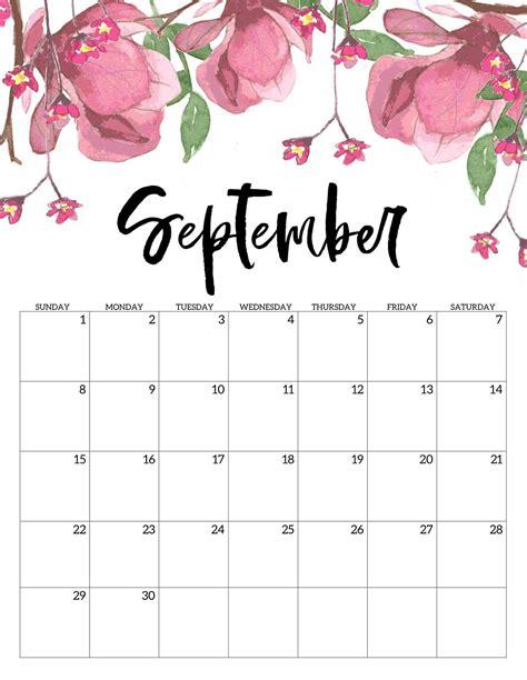 printable september  calendar office template net