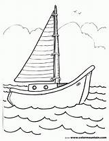 Boat Sailboat Coloring Pages Drawing Template Sailing Sheet Print Sketch Printout Coloing Motor Templates Popular Gmm Getdrawings Coloringhome Comments sketch template