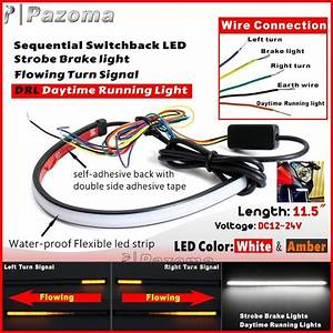 Motorcycle Drl Switchback Flowing Led Strip Light