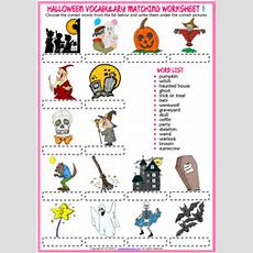 Halloween Esl Printable Vocabulary Worksheets