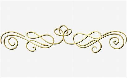 Gold Line Clipart Decorative Lines Flower Clip