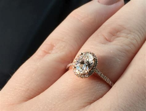real engagement rings oval diamonds weddingbee