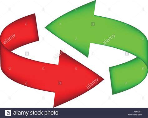 Simbolo Freccia, Rosso, Verde Icona Ciclo Clipart Concetto