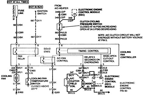 cooling fan wiring diagram 95 mustang somurich com