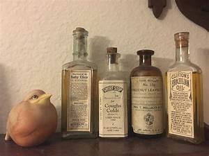 Antique, Vintage, Labeled, Medicine, Bottles
