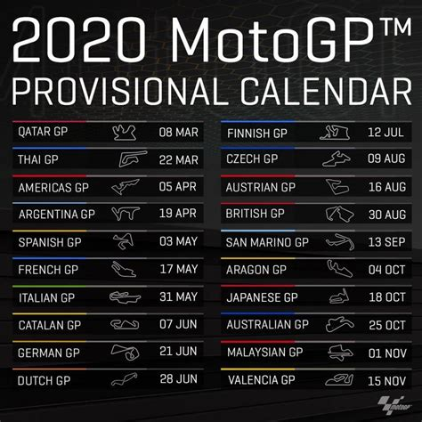 motogp provisional calendar unveiled bikesrepublic