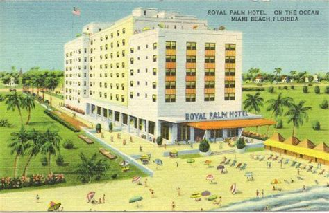 royal palm vintage 1950s vintage postcard royal palm hotel miami 2022
