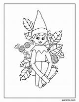 Elf Shelf Coloring Excited Printables Holiday Inspired sketch template