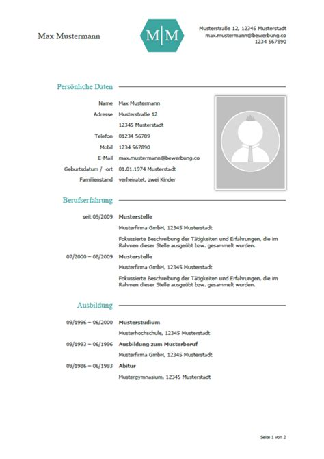 Bewerbung Lebenslauf Muster by Vorlage Muster Lebenslauf Vorlage 2018 Zuk 252 Nftige