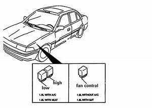 what controls the radiator cooling fan motor on a 1996 With dual fan controller